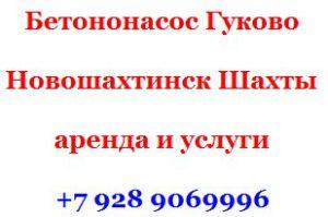 Арендовать в Новошахтинске бетононасос или заказать услуги бетононасоса Гуково